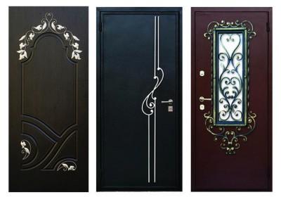 Декоративные решения оформления входных дверей