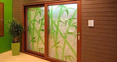 Матированная стеклянная дверь с узором