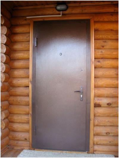 Входная дачная дверь