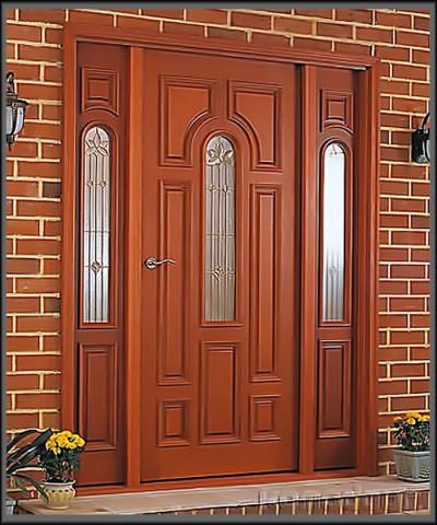 Нестандартные оригинальные входные двери из дерева