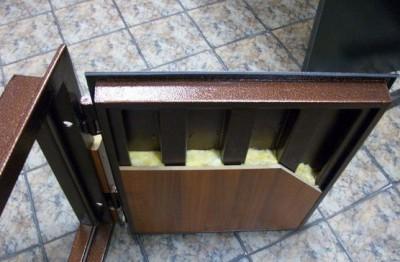 Металлическая дверь в разрезе