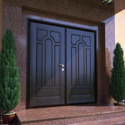 Металлическая двустворчатая дверь