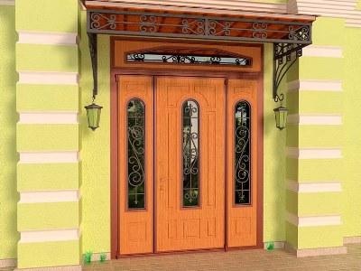 Дверь нестандартная с фрамугой
