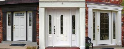 Металлопластиковые двери со стеклопакетом