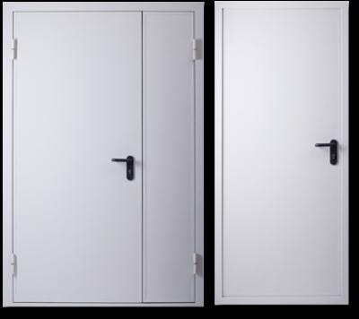 Входная белая дверь металлическая, порошковое покрытие