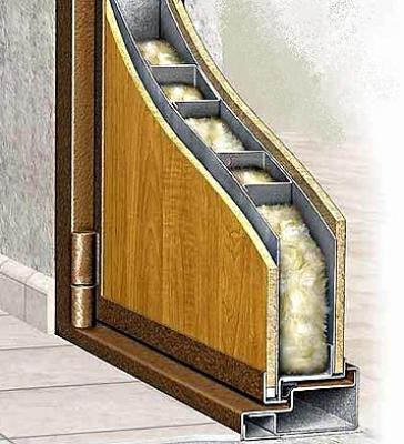 Дверь с внутренней звукоизоляцией