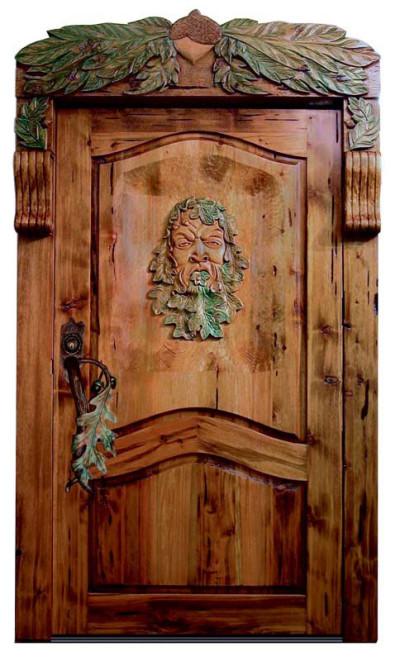 Двери из дерева под старину