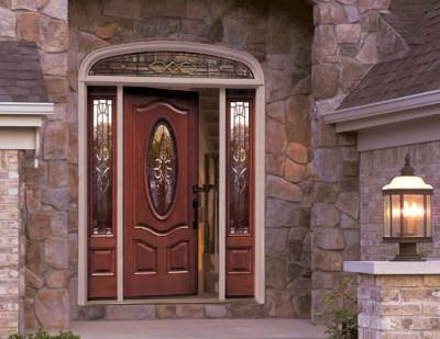 Деревянная дверь для установки на даче