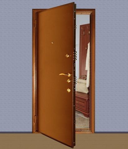 Добротная металлическая дверь