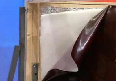 Утепление деревянной защиты проема