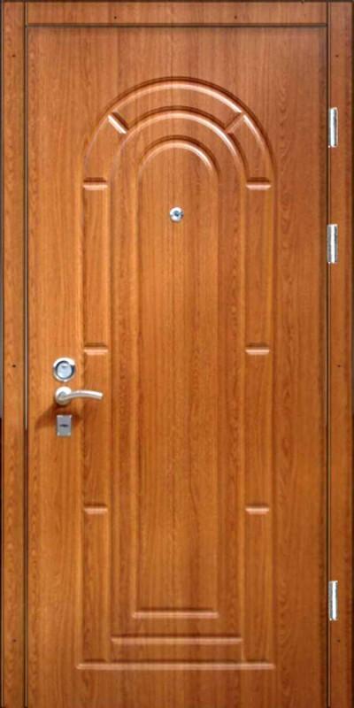 Металлическая дверь под дерево