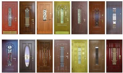 Разнообразные цветовые решения входных дверей