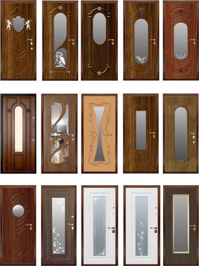 Двери, декорированные зеркалом