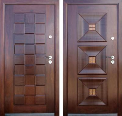 Облицовка двери панелями МДФ