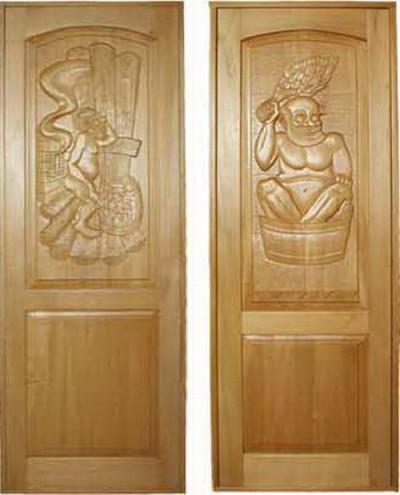 Двери из массива липы