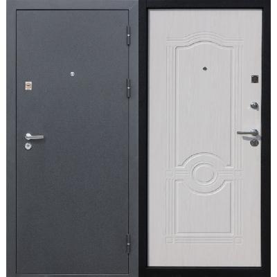 Входная металлическая дверь белая с внутренней стороны.Входная металлическая дверь белая с внутренней стороны.