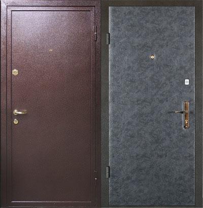 Входная металлическая дверь с порошковым напылением
