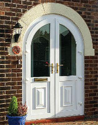 Двухстворчатая арочная дверь