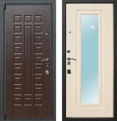 металлические двухстворчатые двери в холл